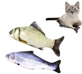 S.old - Vissen Met Kattenkruid - Kattenspeelgoed - 2 St - 30 cm