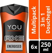 Axe You Energized Douchegel - 6 x 250 ml - Voordeelverpakking