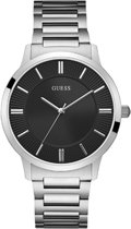 GUESS Watches -  W1075G1 -  Horloge -  Heren -  Leer - Zwart -  44  mm