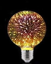 LED vuurwerklamp - G80 rond - Warm wit