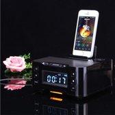 Universale DockSpeaker met Bluetooth, NFC, FM Radio en Wekker (A9i_Zwart)