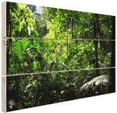 Regenwoud Brazilie  Hout 30x20 cm - klein - Foto print op Hout (Wanddecoratie)