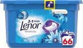 Lenor 3in1 Pods Ocean Breeze - Voordeelverpakking 66 Wabeurten - Wasmiddelcapsules