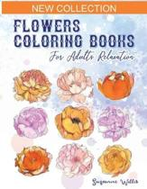 Flowers Coloring Books for adults relaxation