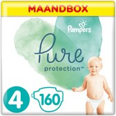 Pampers Pure Protection Luiers - Maat 4 (9-14 kg) - 160 Stuks - Maandbox
