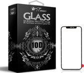 Direct   Iphone X/XS 10D Gehard Glas (ZWART)   TEMPERED GLASS   NIEUW!