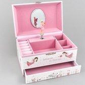 Floss & Rock Fairy Blossom - Muziek-/ Sieradendoosje  - 10 x 15 x 11 cm - Multi