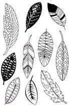 Siliconen Stempels Feathers   10 Stempels met Verschillende Veren