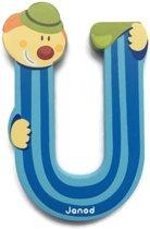 Janod Clown Letter - letter U - Blauw