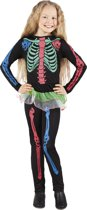 Kostuum Neon Skelet - 4-6 Jaar
