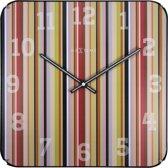 Smithy Dome Square - Klok - Stil uurwerk - Glas - Vierkant - 35x35 cm - Verschillende Kleuren