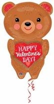 SuperShape HVD Bear with Heart Foil Balloon P40 packed 48 x 71cm