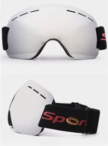 Oversized Skibril Zilver - Anti condens en UV Bescherming
