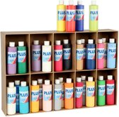 Plus Color acrylverf, 30x250 ml, kleuren assorti