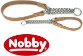 Nobby halsband slipketting, hals-vriendelijk naturel 20-30 x 1 cm - 1 st