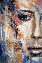 Schilderij - Vrouw in kleuren