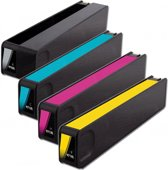 Inktmedia® -Inktcartridge - Alternatief voor de HP 970 en hp 971 XL inktcartridge Set Zwart, Cyaan, Magenta, Geel Cartridge Inktmedia huismerk ®