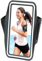 Comfortabele Smartphone Sport Armband voor uw Zte Blade L3, zwart , merk i12Cover