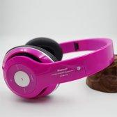 Wireless bluetooth headset STN16 Met Fm radio en Geheugen Poort pink