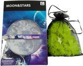 100 sterren (20 sterren + 1 grote maan extra) - Glow in the dark sterren incl. unieke plakstickers! - Sterrenhemel - Lichtgevende sterren - Realistische maan!
