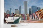 Fotobehang vinyl - Art Institute of Chicago breedte 515 cm x hoogte 320 cm - Foto print op behang (in 7 formaten beschikbaar)