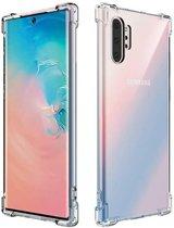 Hoesje voor Samsung Galaxy Note 10 Plus (Note 10+), gel case met verstevigde hoeken, volledig doorzichtig