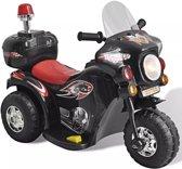 KinderCar Politiemotor op accu 6v Sirene & geluidjes zwart