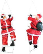 [lux.pro]® Kerstman op ladder - 90 - 60x50cm