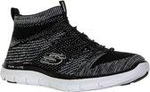 Skechers Flex Appeal 2.0 - Hourglass Sneakers Dames  Sportschoenen - Maat 38 - Vrouwen - zwart/wit