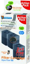 Superfish Aquaflow 100 Filter Crystal Clear Cartridge - Filtermateriaal - 2+1 stuks promopakket