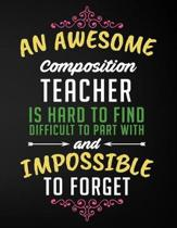 An Awesome Composition Teacher Is Hard to Find Difficult to Part with and Impossible to Forget