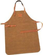 Cuisinova Keukenschort - Leder - Licht Bruin - leren BBQ schort