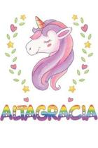 Altagracia: Altagracia Notebook Journal 6x9 Personalized Gift For Altagracia Unicorn Rainbow Colors Lined Paper
