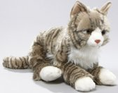 Pluche grijze kat knuffel 37 cm
