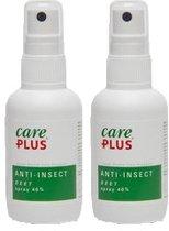 2x Care Plus DEET anti muggen 40% muggenspray )100 ml