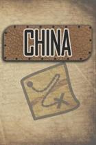 China: Reisetagebuch, Notizbuch oder Urlaubsplaner mit Platz auf 120 wei�en linierten Dot Line Seiten zum Eintragen von Spr�c