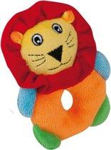 Happy People Pluche Rammelaar Leeuw 14 Cm Oranje/geel