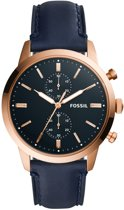 Fossil Townsman horloge  - Blauw