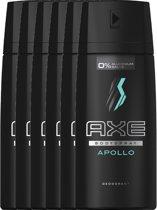 Axe Apollo For Men - 6 x 150 ml - Deodorant Spray - Voordeelverpakking