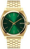 Nixon The Time Teller Gold Green Sunray horloge A0451919