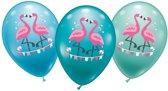 6 Flamingo ballonnen 28 cm - Hawaii / flamingo feestje