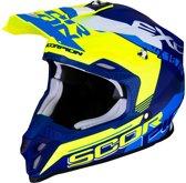 Scorpion Crosshelm VX-16 Arhus Matt Blue/Neon Yellow-L