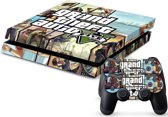 GTA V - PlayStation 4 sticker - PS4 console skin bundel
