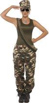 Militair kostuum - Sexy legerpak met pet - Verkleedkleding maat S (36-38)