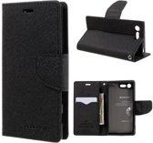 Sony Xperia X Compact Hoesje Zwart met Flexibele Houder