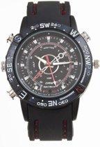 Spy Watch - Horloge met Camera - 8GB - Zwart