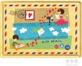 Nostalgic Art Metalen Postkaart Air Mail 10x14 cm