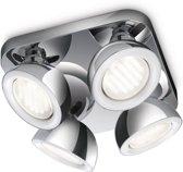 Philips Ecomoods Glance Plafondlamp - (4-lichts) - Chroom