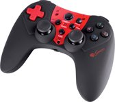 Genesis Wireless Controller PV44 PS3 + PC - Zwart + Rood