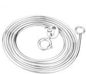 Zilveren ketting slang S925 platinum plated